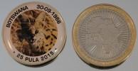 Botswana 25 Pula 2015 Bimetal Couleurs Animal - Botswana