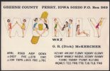 AZ32     QSL WOMLY,  PERRY IOWA, QSL CARD RADIO AMATEUR - PIN UP - Radio Amatoriale