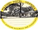 13 HOTEL Labels ZIMBABWE Bulawayo  NIGERIA UGANDA NAMPULA MOCANBIQUE MADAGASCAR TANGANYKA - Hotel Labels
