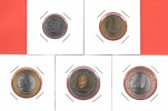 # ANGOLA 5 Piéces De Monnaie 2012 (50 Cts; 1 Kz; 5 Kzs; 10 Kzs) 2014 (20 Kzs) UNC - Angola