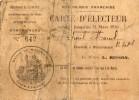 MONTRICHARD  (41)    CARTE  D´ ELECTEUR    1935/1936 -    Cachet Mairie De MONTRICHARD  - Carte Abimée - Non Classés