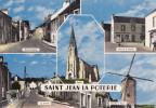 SAINT JEAN LA POTERIE - Rue Principale,  Rue De La Mairie, Le Centre, L´Église, Moulin à Vent  (GGb-985) - Autres Communes