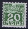 Osterreich Levant Mi Nr 13 Y  MH/*, Avec  Charnière , Mit Falz, - Portomarken