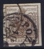 Osterrech: Mi Nr 4 X R  Used / Obl. Geripptes Papier Signed/ Signé/signiert Ferchenbauer (Besonderheiten Des Papiers)