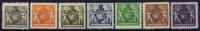 LIECHTENSTEIN: Mi  46B - 52B  MH/*, Avec  Charnière , Mit Falz, - Unused Stamps