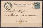 LIECHTENSTEIN: 3 Kr Mi 52 Grünblau/schwarz Stempel Vaduz 1899 - Liechtenstein
