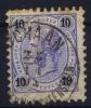 LIECHTENSTEIN: Austria Mi 54 With SCHAAN Cancel   Some Paper On Back - ...-1912 Vorphilatelie