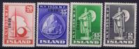 Island: Mi Nr 218 - 221, MH/*, Avec  Charnière , Mit Falz  218-220= MNH, 221 = MH - Ungebraucht