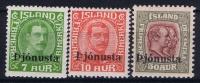 Island: Mi Dienst. Nr  63 - 65 , MH/*,avec  Charnière , Mit Falz - Dienstpost
