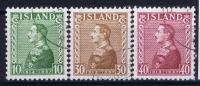 Island: Mi  Nr  187 - 189 , Used Obl - 1918-1944 Amministrazione Autonoma