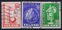 Island: Mi  Nr  218 - 220 , Used Obl - 1918-1944 Unabhängige Verwaltung