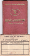 Romania, 1968, Vehicle Driving License / Permit And Penalty Ticket - Documenti Storici