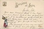 Souvenir De SPA - Cachet De La Poste 1900 - Spa