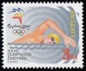 LITHUANIA - Scott #674 Sydney 2000 Olympic Games, Swimming / Mint NH Stamp - Summer 2000: Sydney