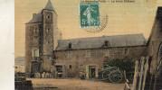 LA HAYE DU PUITS  LE VIEUX CHATEAU    OBLITERATION CACHET PERLE - France