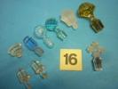 LOT De 9 BOUCHONS Verre Et Cristal ( Voir  Photo Et Descriptif ) - Glass & Crystal