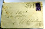 ITALIA 1933 - ANNOSANTO  CENT 50 , SU  LETTERA  VIAGGIATA - Storia Postale