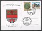 CARTE COMMEMORATIVE 60e JOURNEE DU TIMBRE MONDERCANGE  TP N° 982 + 1251  (CACHET POSTAL DE MONDERCANGE) (SCAN VERSO) - Cartes Commémoratives