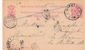 Carte Postale Envoyée  Le 27.12.1892 De Diekirch Via Luxembourg-Gare  à ´S Sravenhage (Pays-Bas) - Luxembourg