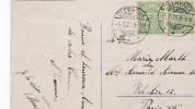 Carte Envoyée  Le 5.1.1920 De Clervaux Vers Paris - Luxembourg
