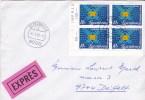 1985 Lettre Par Exprès Envoyée D´Ettelbruck - Timbres Premier Centenaire Réseau Téléphonique