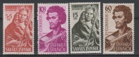 SAHARA ESPAGNOL - 1953 - *  -Y&T 104-107 - Child Welfare - Musicians - - Spanish Sahara