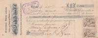 Lettre Change 11/9/1907 JALLAT Minoterie Marie Louise ROYAT  Pour Gimaux Puy De Dôme - Lettres De Change