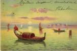 C.P.A. De 1904- Gravure - Aquarelle - Peinture - Tableau - Gondole Et Barques En Lever Ou Coucher De Soleil - - Peintures & Tableaux