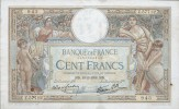 BANKNOTES FRANCE    1938 FRANCIA 100 FRANCS LUC OLIVIER MERSON - 1871-1952 Circulated During XXth