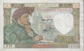 BANKNOTES FRANCE  1941 FRANCIA 50 FRANCS JACQUES COEUR - 50 F 1940-1942 ''Jacques Coeur''