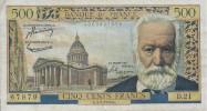 BANKNOTES FRANCE   1945 FRANCIA 500 FRANCS VICTOR HUGO - 1871-1952 Anciens Francs Circulés Au XXème