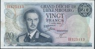 BANKNOTES LUXEMBURG  1966 LUSSEMBURGO 20 FRANCS - Lussemburgo