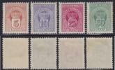 3888. Kingdom Of Montenegro, 1907, Porto Stamps, MH (*) - Montenegro