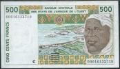 BANKNOTES L'AFRIQUE DELL'OVEST  500 FRANCS - Estados De Africa Occidental