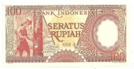 Indonesia 100 Rupiah 1958 UNC - Indonesia