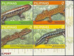 Philippines 2011 MiNr. 4553 - 4560 (Block 296) Philippinen Reptiles Lizard 4v MNH**  2,00 € - Altri