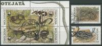 Moldawien 1993 Naturschutz: Schlangen 50/55 Gestempelt Mit ZD - Moldawien (Moldau)