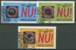 Moldawien 1995 50 Jahre UNO 184/86 Gestempelt - Moldawien (Moldau)