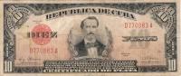 "1948 - 10 PESOS  # D770083A   - RARE - "" LA REPUBLICA "" ESCARCE  ( SCARCE ) CERTIFICADO DE PLATA. - Cuba"
