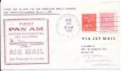LE35 1ère Liaison Aérienne Pan Am Intercontinental Jet Clipper San Francisco Londre - 2c. 1941-1960 Briefe U. Dokumente