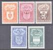 BELGIUM   B 442-6     *    ARMS - Unused Stamps