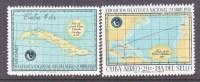 CUBA   593, C 180  *   MAP  MAIL ROUTES - Cuba