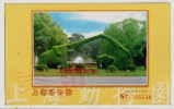 Green Plant,Elephant Shape Horticulture,China 2002 Shanghai Zoo Advertising Postal Stationery Card - Olifanten