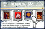 COINS-SWISS STAMPS-WORKS OF ART TO COLLECT-POSTAL EXHIBITION-DEPICTED ON PHONE CARD-ALMOST RARE-A6-638 - Telefonkarten