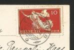 INSEL REICHENAU Konstanz Bodensee Briefmarke Friedensgöttin Ermatingen TG 1919 - Konstanz