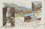 Vorarlberg Gruss Aus Dornbirn Pioneer Card Litho128 Daniel Feurstein P. Used 1899 To Villa Bellevue Charbonnieres Rhone - Dornbirn