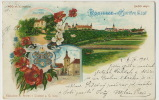 Kostelec Nad Cernymi Lesy Pioneer Precurseur Litho Brecka Kostelci P. Used 1903 Poppies - Tchéquie