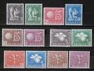 SUISSE - 1956 Service N° 369/380 * - Dienstpost