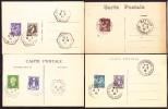 Ile Et Villaine - 4 CP Avec Oblitérations - Poststempel (Briefe)