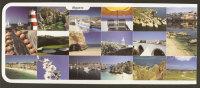 Portugal Entier Postal Algarve Multivue Golf Phare Pont Plage Postal Stationary Algarve Golf Lighthouse Beach Bridge - Lighthouses